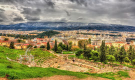Theatre of Dionysus Eleuthereus in Athens Royalty Free Stock Photo
