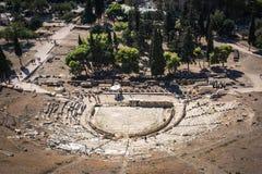 Theatre Dionysus Eleuthereus przy akropolem Ateny, norma obrazy royalty free