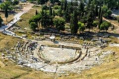 Theatre Dionysus przy stopą akropol, Ateny Obraz Stock