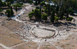 Theatre of Diosysus, Acropolis Hill  Athens Stock Photo