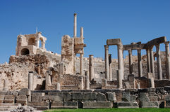 Theatre, Dougga Roman City, Tunisia Stock Images