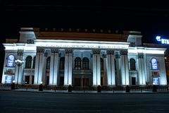 Theatre of Drama. The ancient building of the Drama Theater in the center of Voronezh. Russia Stock Photos