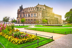 Theatre in Dresden Royalty Free Stock Images