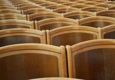 Theatre drewniani siedzenia fotografia stock