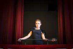 Theatre dziewczyna Obraz Royalty Free
