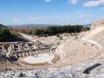Theatre of Ephesus Ancient City at november at sunny day, Turkey. Royalty Free Stock Photography