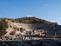 Theatre of Ephesus Ancient City at november at sunny day, Turkey. Royalty Free Stock Photos