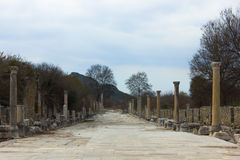 The Theatre of Ephesus Ancient City Stock Photo