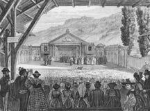 theatre för 19th århundrade Royaltyfria Foton
