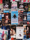 Theatre festival in Avignon, july 2012. Plenty of playbills on a wall in Avignon during famous theatre festival Royalty Free Stock Image