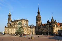 Theatre fyrkantiga Dresden royaltyfri fotografi