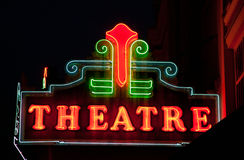 Theatre. General Motel sign with mid-century modern lettering Stock Images