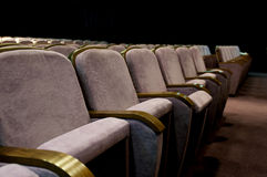 Theatre hall seats Stock Photography
