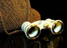 Theatre handbag and opera-glass Stock Photo