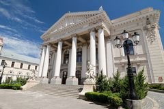 Romania, Oradea - Theatre House royalty free stock photography