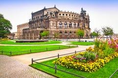 Theatre i Dresden Royaltyfria Bilder