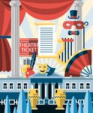 Theatre icons concept Royalty Free Stock Image