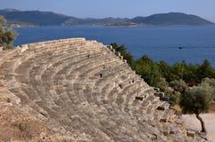 Theatre at Kas, (Lycian Antiphellus), Turkey Royalty Free Stock Images