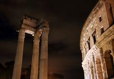 Theatre of Marcellus and Apollo Sosiano temple Stock Image