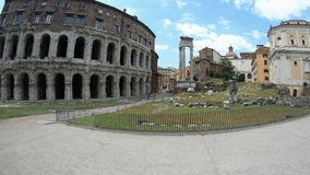 The Theatre of Marcellus stock footage
