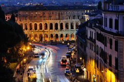 Theatre of Marcellus by Night Royalty Free Stock Photo