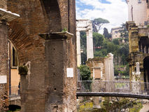 The Theatre of Marcellus and the Roman Fishmarket in Rome Italy. Rome Italy, the Eternal city, which has been a destination for tourists since the times of the Stock Photography