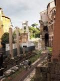 Theatre of Marcellus in Rome. View of Theatre of Marcellus in Rome Royalty Free Stock Images