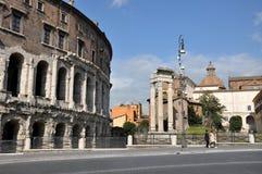 Theatre of Marcellus Teatro di Marcello. Rome, Italy Stock Photos
