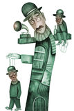 Theatre with Marionettes vector illustration