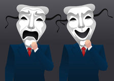 Theatre mask businessmen Stock Photography