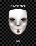 Theatre mask on a checkered background. Stock Image