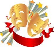 Theatre maski Obraz Stock