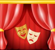 Theatre masks background Stock Photo