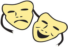 Theatre Masks Stock Images