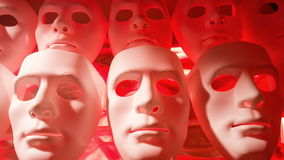Theatre masks stock video footage