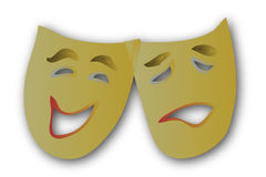 Theatre Masks Simple. A simple vector illustration of theater masks vector illustration