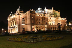 Theatre by night. Slowacki theatre in Cracow - Poland Stock Photos