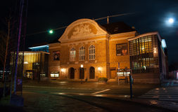 The theatre in Odense. Photographed at night Royalty Free Stock Photography