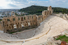 Theatre the Odeon in Athens Royalty Free Stock Images