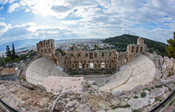 Theatre the Odeon in Athens Stock Images