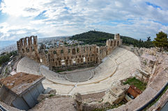 Theatre the Odeon in Athens Royalty Free Stock Image