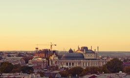 Theatre of Odessa. At sunset Stock Photos