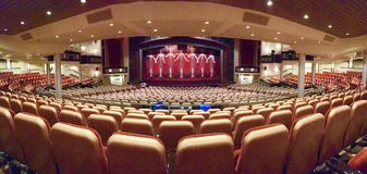 Theatre onboard cruise ship Liberty of the Seas. Royal Caribbean International cruise line Stock Photos