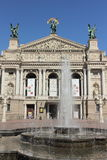 Theatre of Opera and Ballet Lviv Stock Image