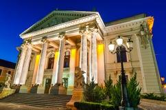 Theatre of Oradea twilight, Romania royalty free stock images
