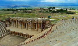 Theatre in Pamukkale. Stock Photo