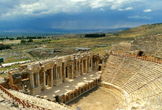Theatre in Pamukkale. Royalty Free Stock Photography