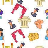 Theatre pattern, cartoon style Royalty Free Stock Photo