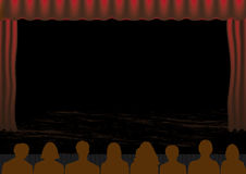 Theatre performance. This image is a vector illustration and can be scaled to any size without loss of resolution. This image will download as an EPS file. You Stock Photography