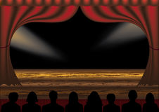 Theatre performance. This image is a  illustration and can be scaled to any size without loss of resolution. This image will download as an EPS file. You will Stock Photography